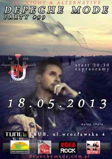 DEPECHE MODE 101 Night Party Tunel Club [EDYCJA 99] SOOTHE MY SOUL - Poznań, TUNEL Music Club